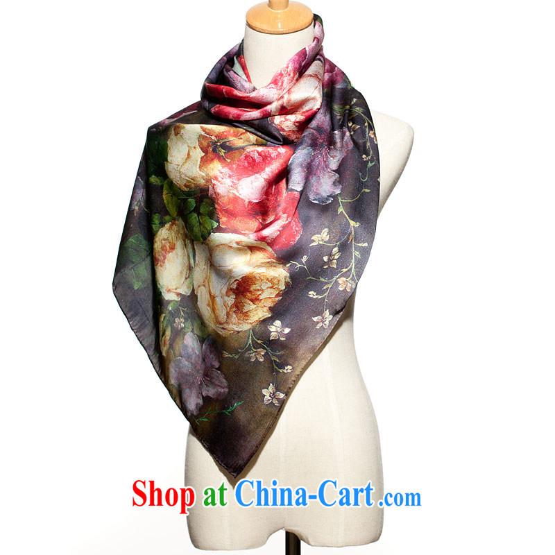 High-eup EGAO silk painting long silk scarf scarf 23,203