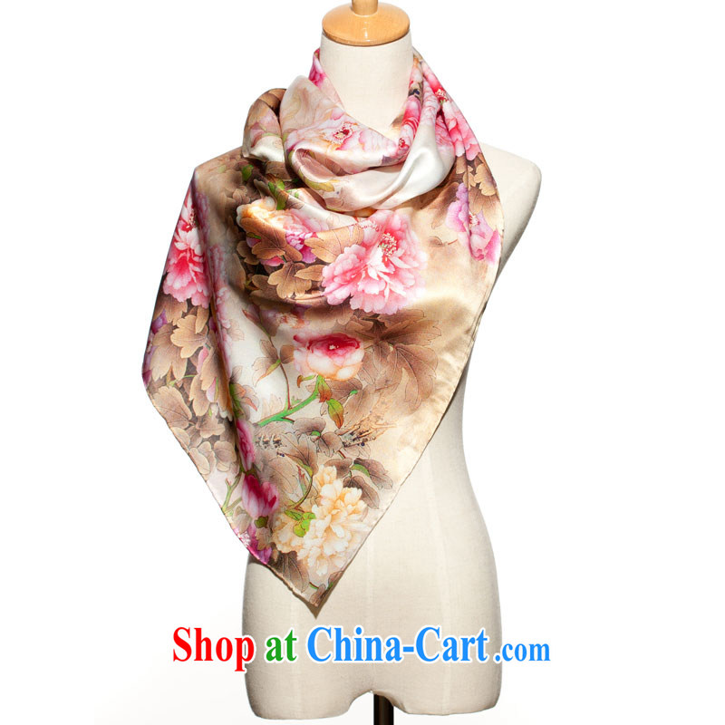 High-eup EGAO silk Technology Computer poster long silk scarf peony flower scarf 23,202