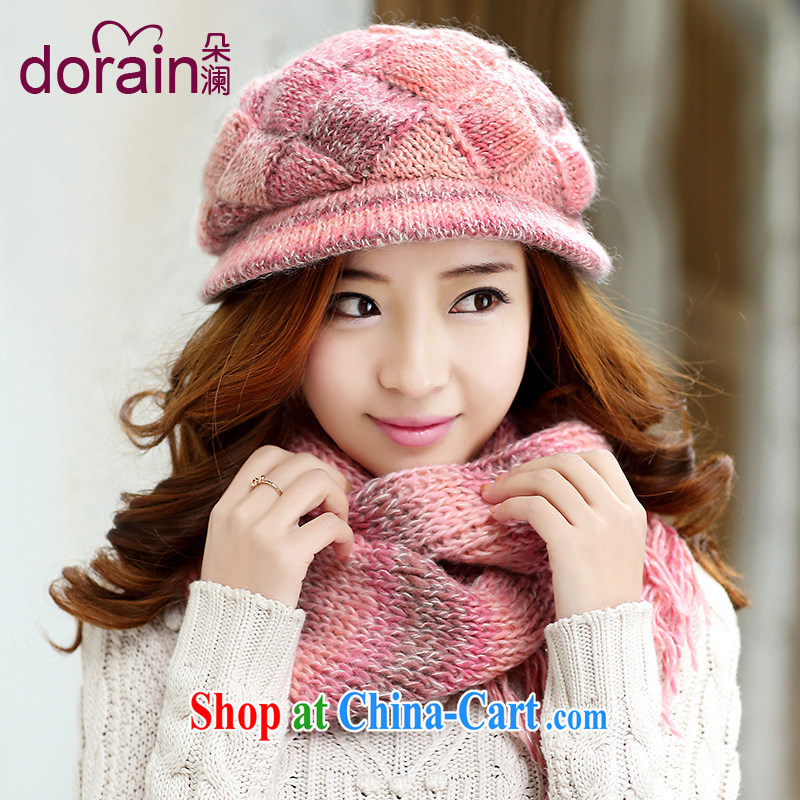 Wool hat scarf two-piece with autumn and winter hat, Korean version of the new women hat winter lovely T 043 toner color code