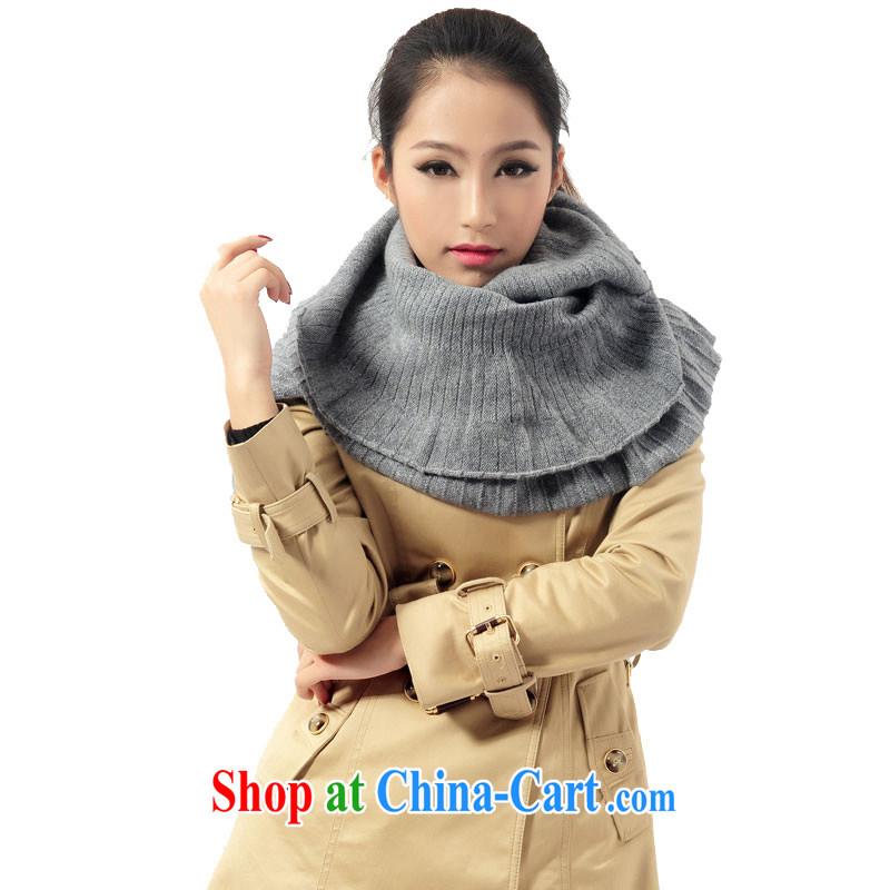 Kai, Mr. cool, soft flouncing design scarf 100% pure cashmere scarves GWC 034 gray 175 cm - 230 CM