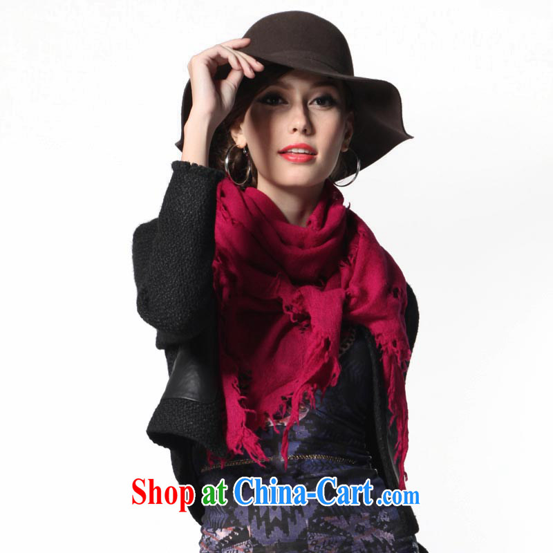 The AE Connie ZASN winter pure wool scarf Solid Color shawl long warm gift scarves CY 142 red