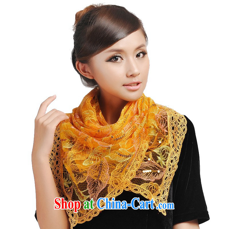 Today's story stylish lace scarf and 192,060 parting color yellow