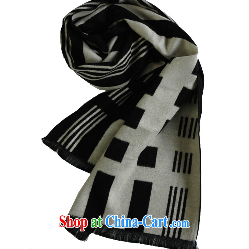 Compilations CHEGEE fall and winter New Men scarves imported silk and cotton black-and-white checkered warm thick scarf