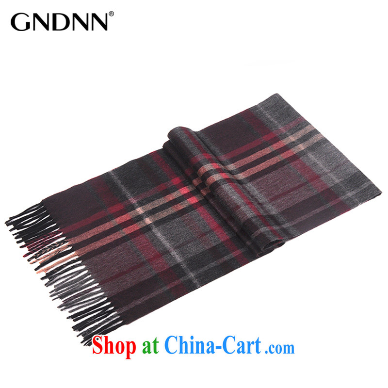 fall and winter new bidding in Dili (GNDNN) British Grid Thickness, flow, woolen scarf Cashmere scarf men (gift boxed) TCS 1208 gray red and white strip