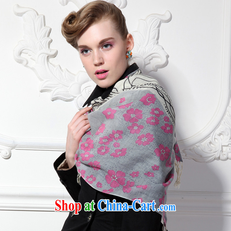 HANG SENG Yuen Cheung-100 % high quality pure wool stamp duty, long scarf as a gift (gift boxed) romantic Snow White and gray romantic Snow White and gray, and the Hang Seng source Cheung, and shopping on the Internet