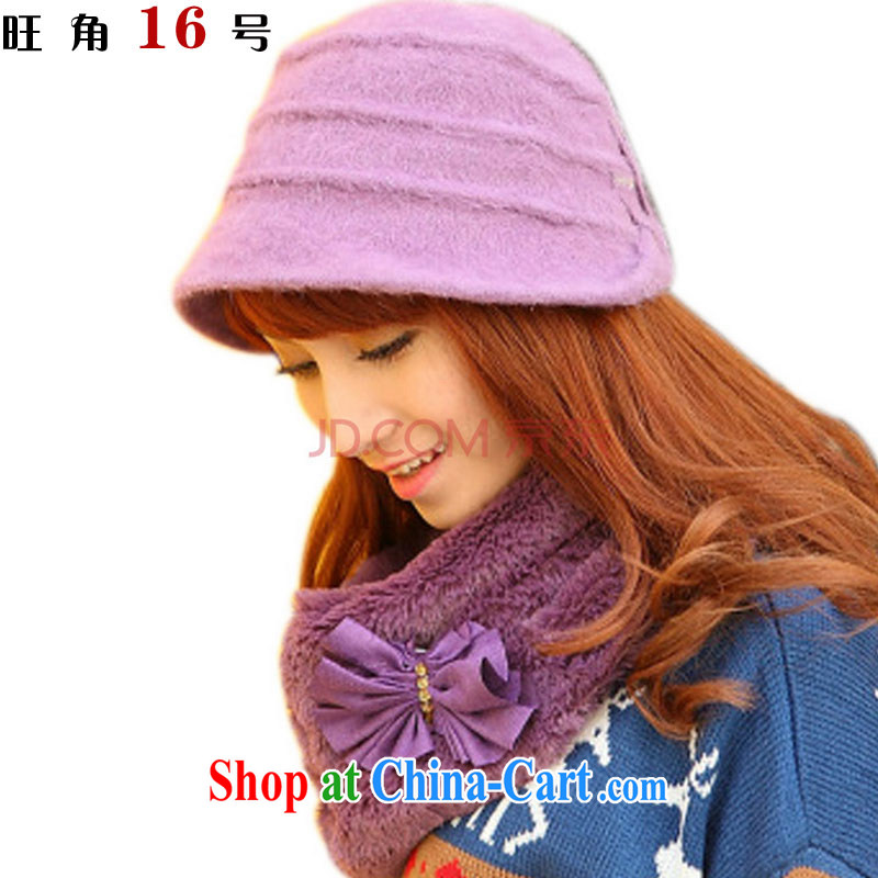 Mong Kok 16 wool fashion cap + hair scarf 2-piece set with TZ - 12 - 1221