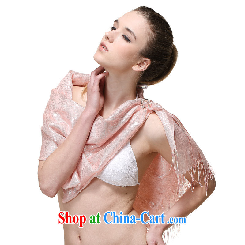 It style (Glovin) spring and summer new women Ethnic Wind hot Silver Stamp long widen the sunscreen scarves shawl pink