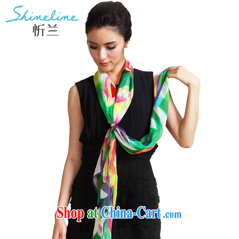 Central America, really, Ms. light silk scarf 100 % sauna silk long scarf warm scarf of Yuan every corner in Hong Kong Green