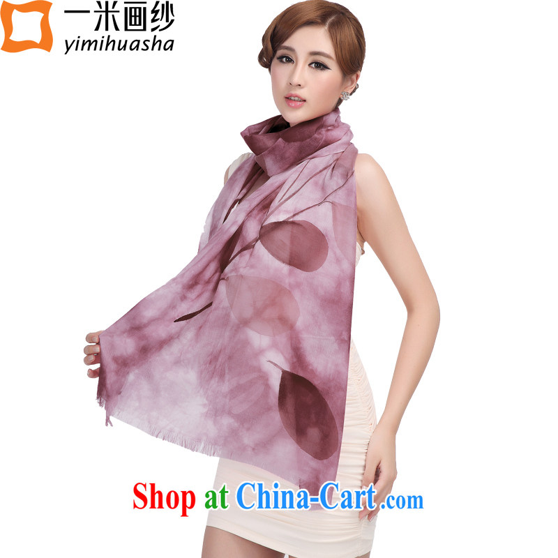 A one-meter animation yarn Cashmere scarf girl autumn and winter new 300 hand-painted rings lint-free cloth shawl branches rubber toner