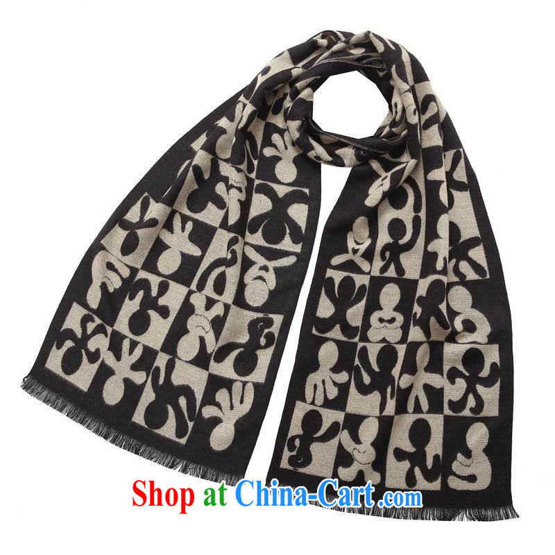 Winter new scarves men business warm scarves, generation, cotton blended MWJ 13,744 M coffee length (CM) about 32 * 180