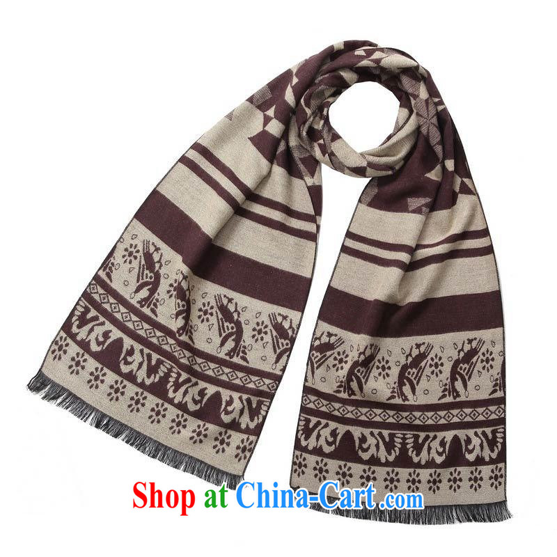 New scarves men's business warm scarf totem MWJ 13,745 M coffee length (CM) about 32 * 180 CM