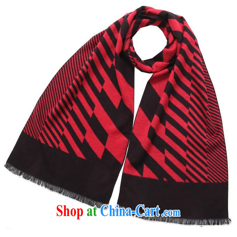fall and winter warm men Mok, scarves brushed-su edge MWJ 13,752 black-red length _CM_ about 32 _ 180 CM