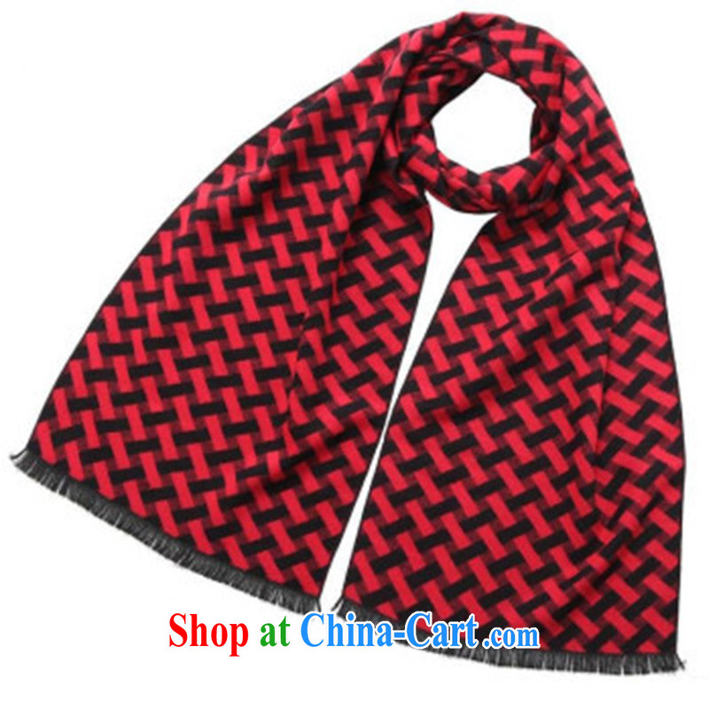 fall and winter new Mostar, warm scarves men brushed, cotton scarf MWJ 13,755 red length (CM) about 32 * 180 CM