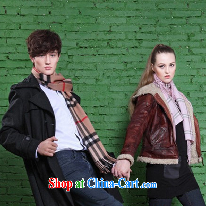 New Men's 100 ground and stylish stripes fall and winter warm men's scarves MWJ 13,789 coffee length (CM) Barbados, 175 CM