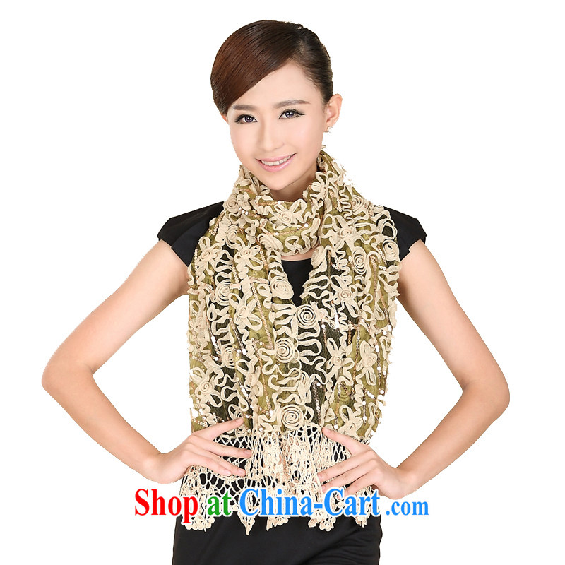 Today's story new flora is a stylish, scarf ultra-aggressive personality scarf shawl dinner 158,058 green