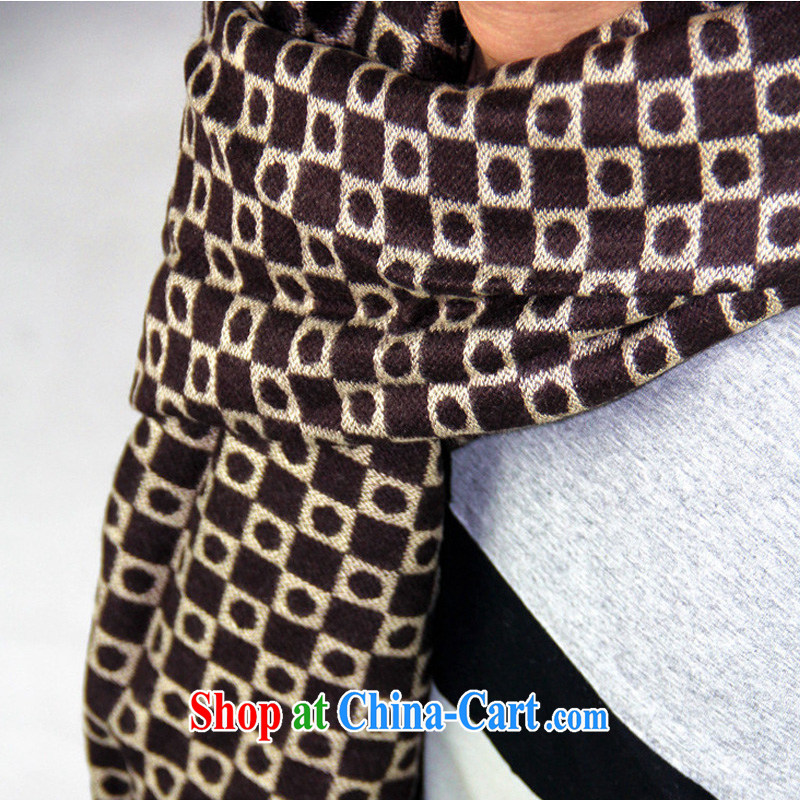 Winter new scarves men scarf business wind scarf shawl scarf MWJ 13,948 brown length (CM) 135 - 175 CM