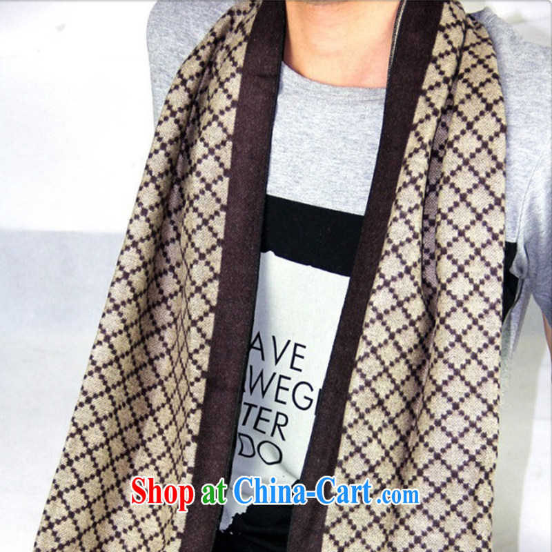 New autumn and winter the long scarf British men scarves emulation Cashmere wool tartan MWJ 13,951 coffee length (CM) 135 - 175 CM