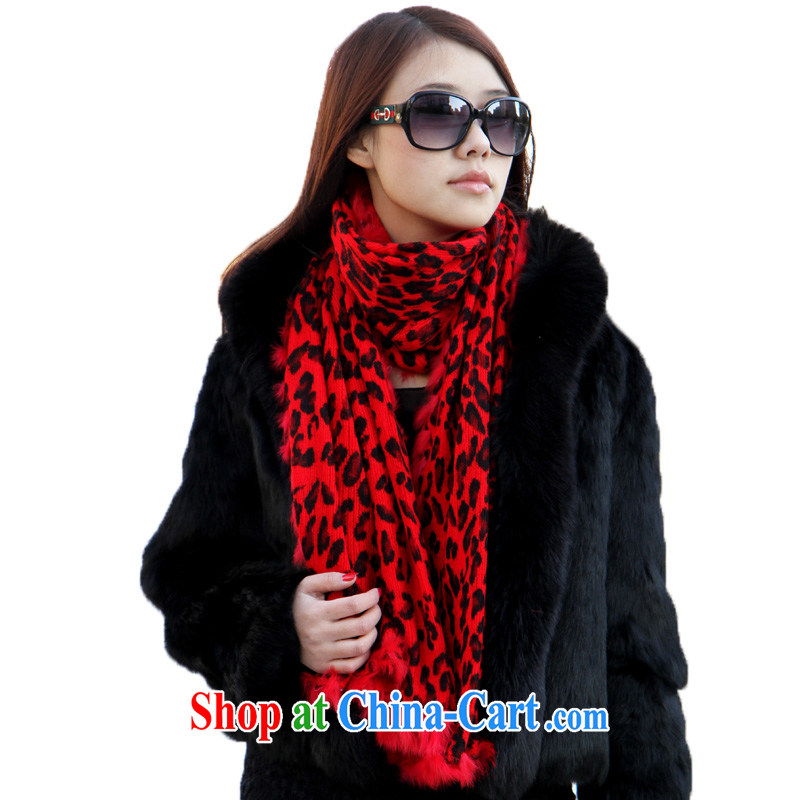 Poetry, rain wool rabbit hair Leopard scarf shawl SYSD 650,024 red are code