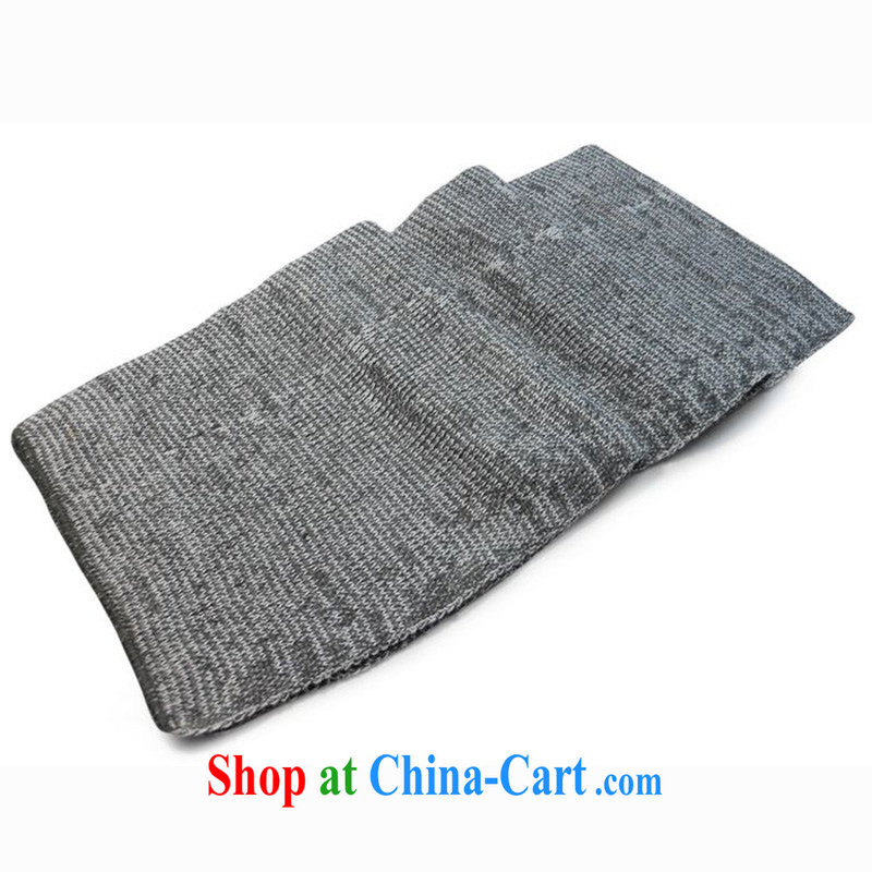 Elections to people where high health knitting scarf Korean version snow scarf autumn and winter thick men's scarves love gift light gray long 160 CM
