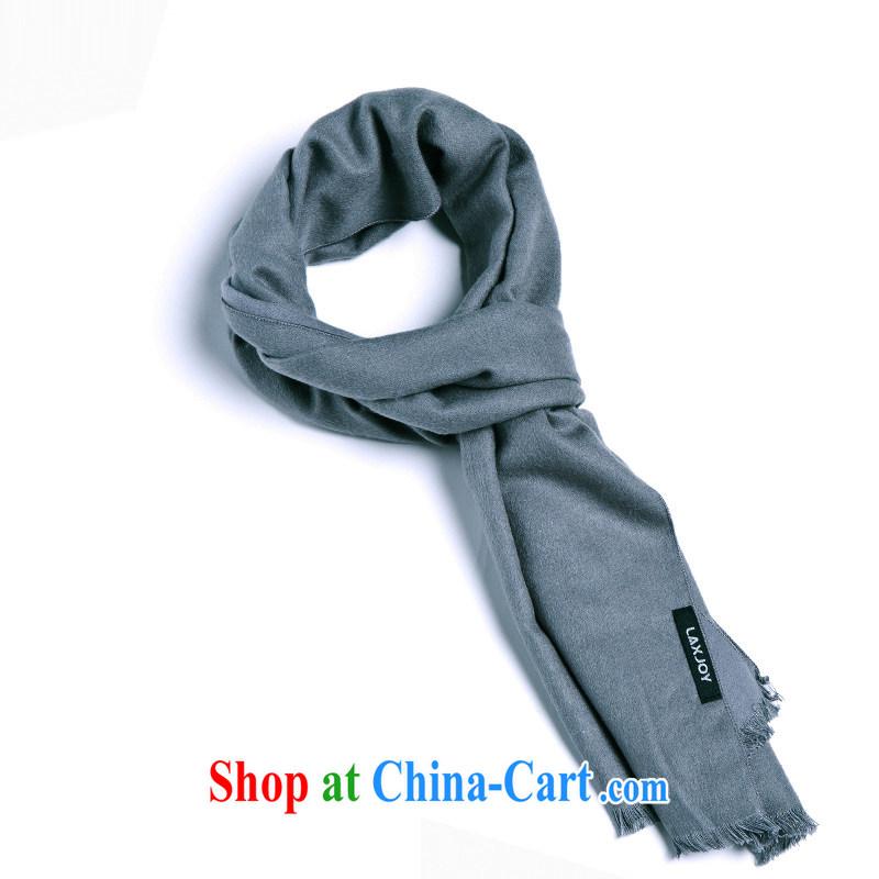 Yuen Long Yuet men's 2014 fall and winter new ultra-soft feel sauna silk classic solid color scarves men's jerseys short-su gray short-su