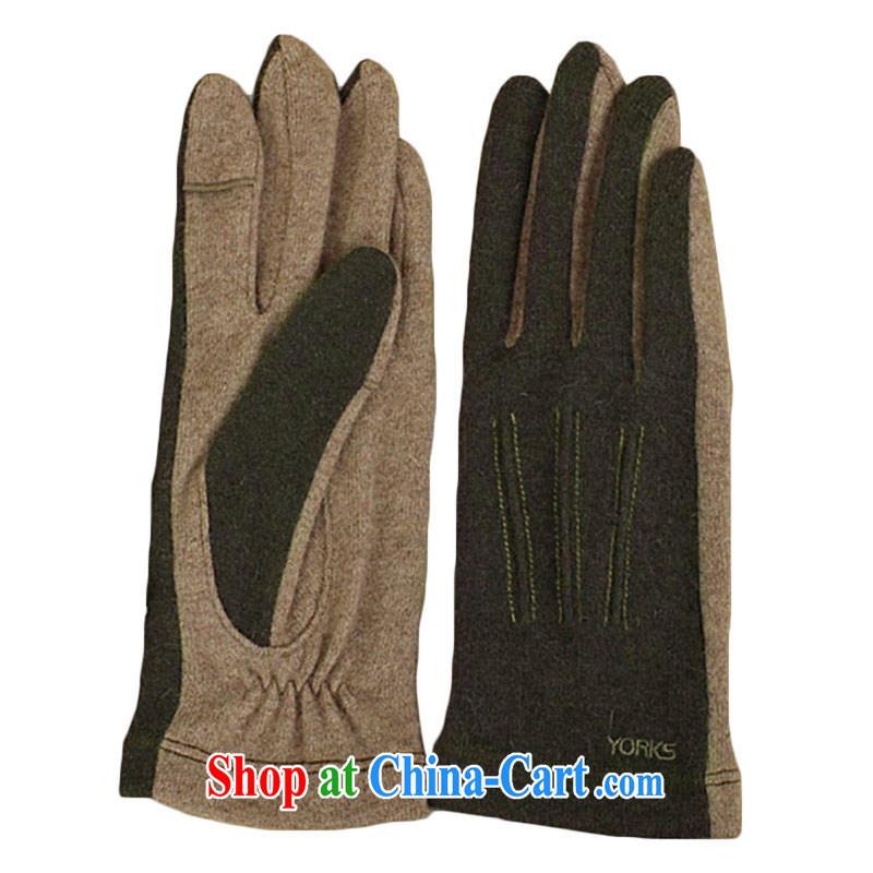 YORKS - warm winter touch Advanced rabbit wool men's gloves army green M