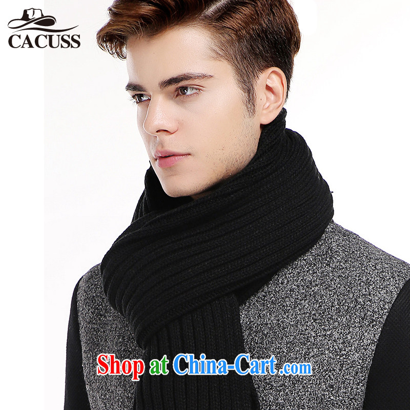 CACUSS scarves men's winter solid-colored warm extra-long ultra-large men's scarves couples scarf W 0029 black 210 * 35 CM, CACUSS, shopping on the Internet