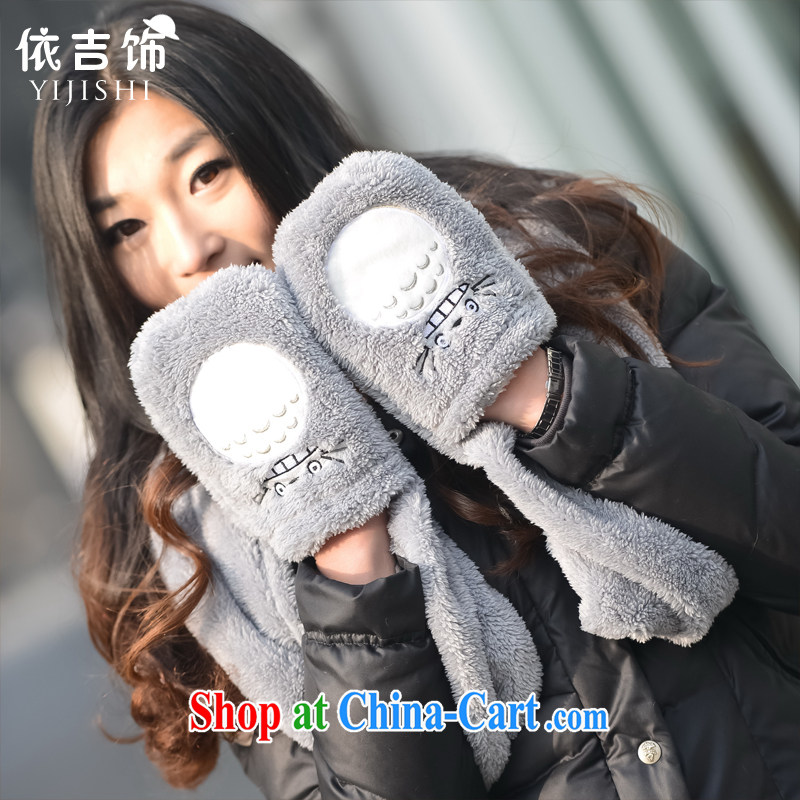 In accordance with ornaments, cute, CAT scarf gloves two-piece female scarf warm, plush scarf Kit spring scarf girls gloves, according to the international, and shopping on the Internet
