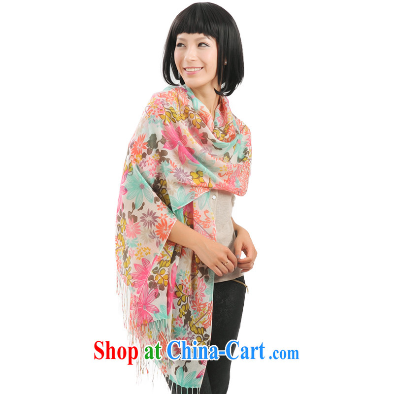 It style (Glovin) spring and summer wool scarf girl stamp duty on 100 ladies scarf Air Conditioning shawl toner green