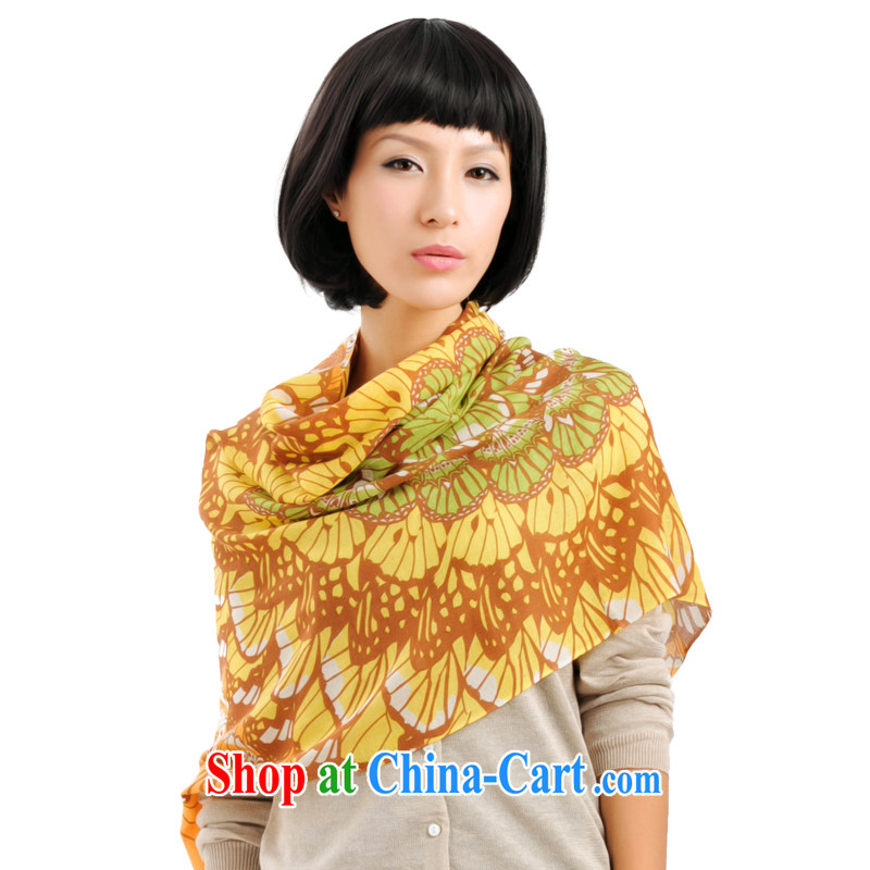 It style _Glovin_ Spring and Autumn and pure wool only American stamp long scarf air-conditioning shawl wool scarf girls orange