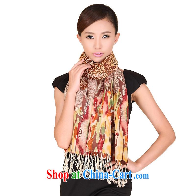 Today's story women Leopard wool scarf fall and winter warm stylish pashmina shawl scarf 149,029 orange