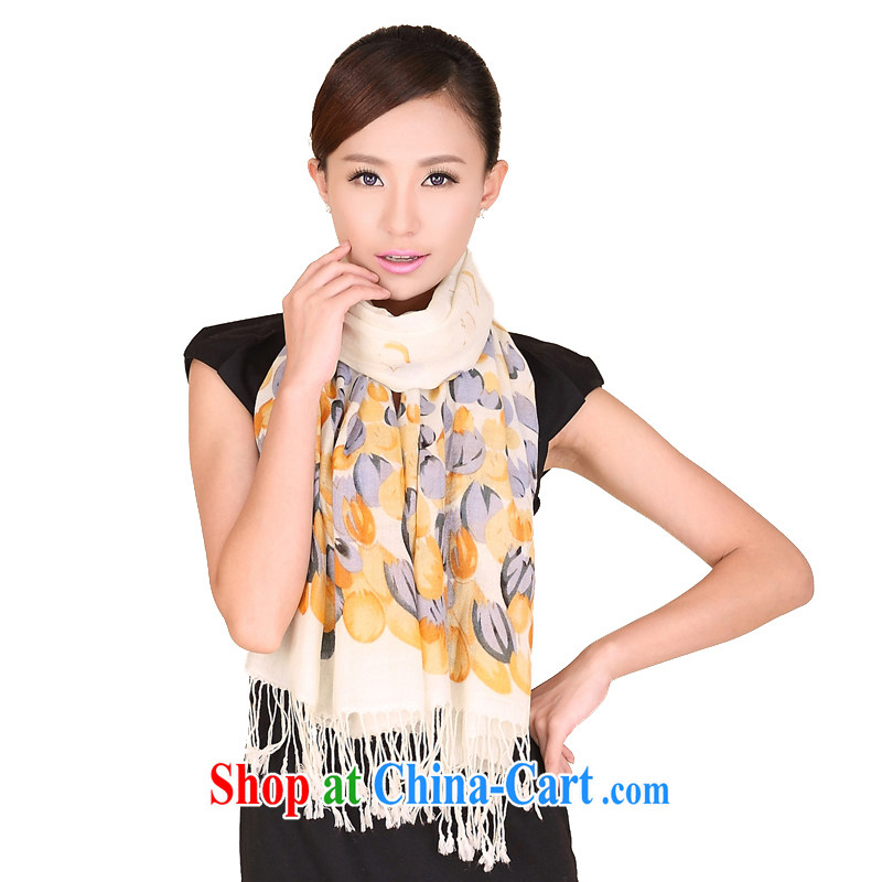 Today's story winter new tulip stamp wool scarf, warm woolen shawl scarf 158,098 yellow