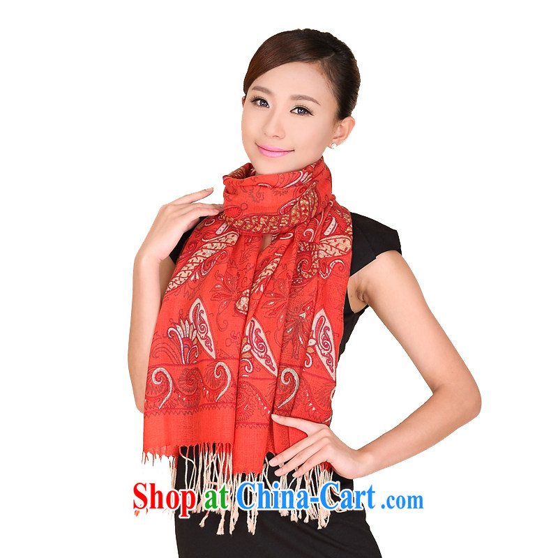 Today's story classic cashew nuts and stylish woolen scarves winter, warm woolen scarf 158,101 orange