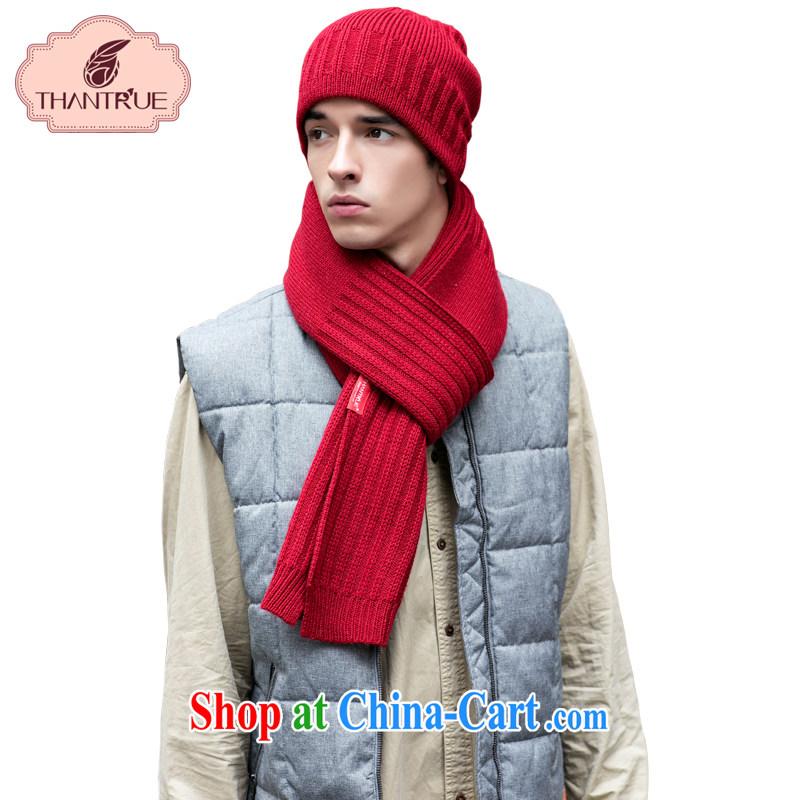 Thantrue really enjoy a Korean couple woolen scarves winter knitting knitting scarf men's solid color twist warm W 160-N deep red