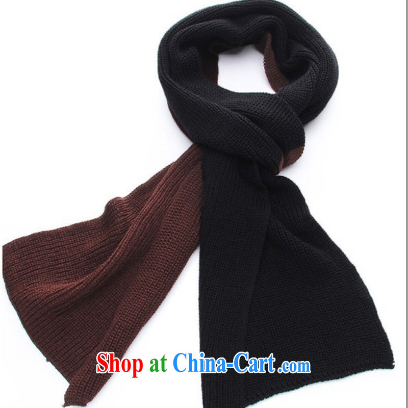2014 New Men's scarves autumn and winter style warm scarf MWJ 131,319 black deeper brown are code