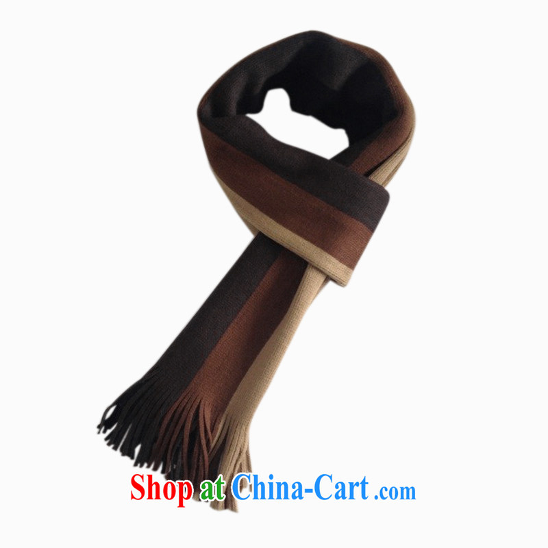 Streaks fall and winter emulation cashmere men knitting scarf thick extra long scarf and scarves scarf Dad MWJ 131,384 coffee bars are code