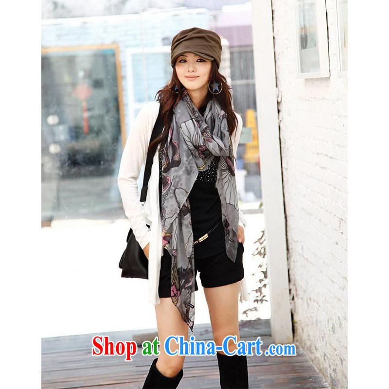 increase, it blooms ink style dream cotton Bali yarn new scarf WWJ 131,427 gray