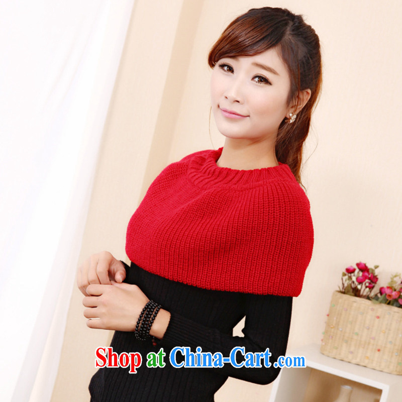 New Korean small shawls also set personalized short skirts two handkerchief creative scarf scarves WWJ 131,484 red are code