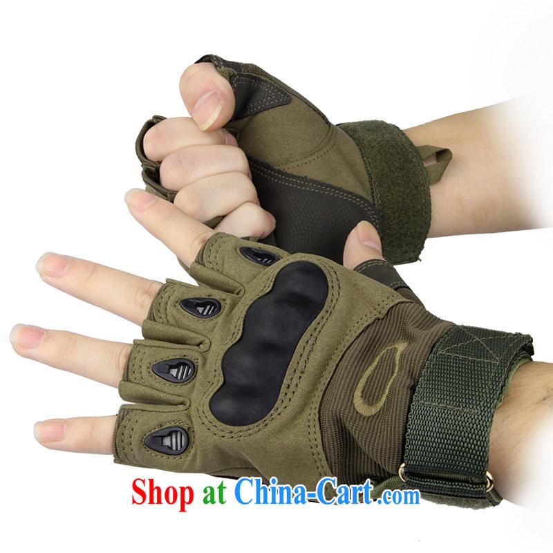 Half Eapn mittens men's outdoor Black Hawk non slip man riding Korean gloves tactical training gloves 001 army green XL