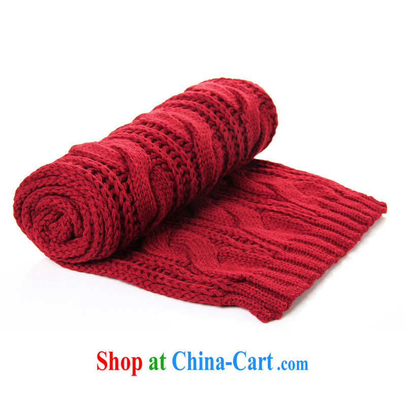 Dan Jie Shi DANJIESHI winterization 8-color into the simple plain colored twist warm longer couples scarves 100 ground knitting men scarf red wide 35 long 180