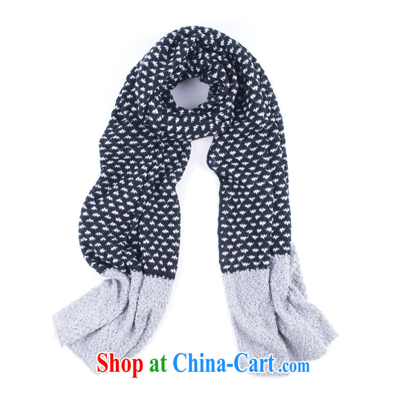 Degrees in autumn and winter in Korean men and women, small grass mix stitching and stylish warm Knitted Scarf knitting scarf wj 059 black