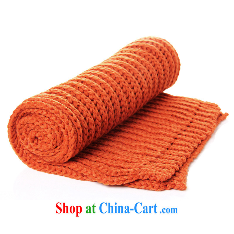 Dan Jie Shi DANJIESHI winter 10 color Solid Color simplicity, 100 ground warm knitted long versatile scarf autumn and winter scarves couples orange wide 35 long 180