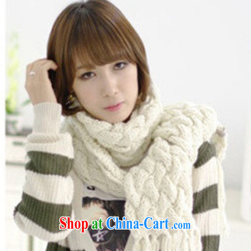 2014 new scarf braided hook take solid color twist warm Ms. winter scarf Korean WWJ 131,489 beige are code