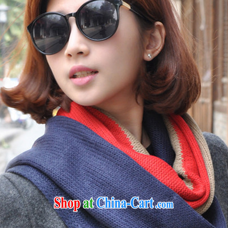 2014 new 3-Color scarf spell color 100 ground couples scarf scarf scarf men WWJ 131,490 coffee + red + green is code