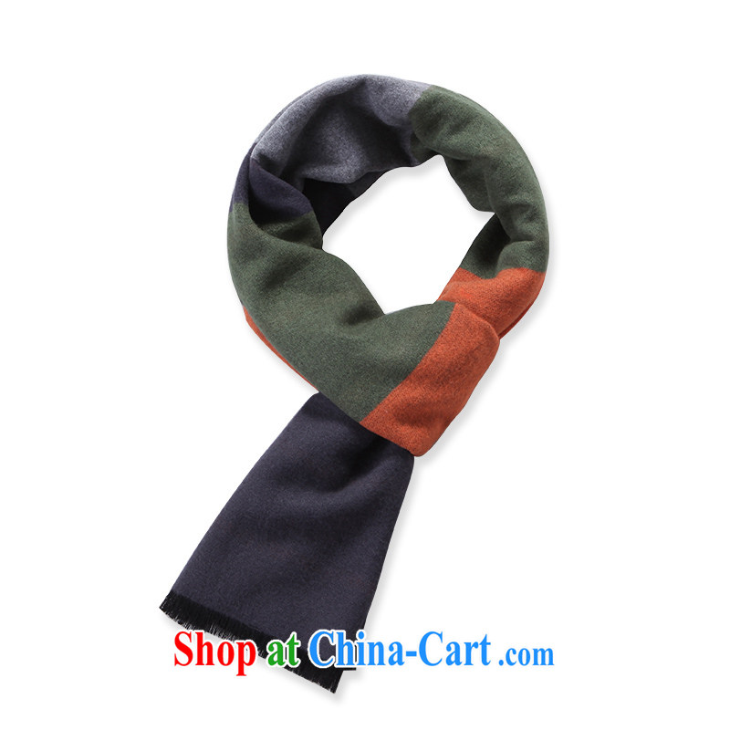 DEERE the 2014 autumn and winter, the men's stylish stripes two-sided cotton warm scarf WJ 008 yellow and green bars are code