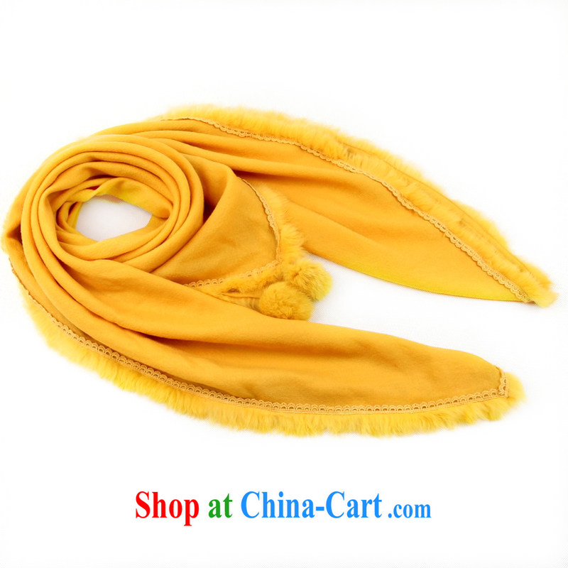 Shanghai Story winter scarf of Ms. color quality wool and wool party scarf thick square warm shawls 158,082 yellow