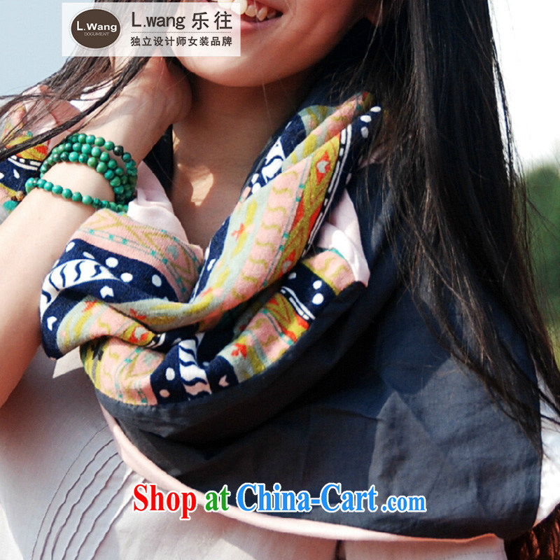To prevent the original L. wang designer clothes brands fall and winter elegant warm the spell-color ultra-long shawls, scarves (A 025 B --