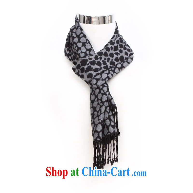 Cards from the Leopard, scarves, couples, winter wool knitting scarf twist knitted scarf WJ 014 gray