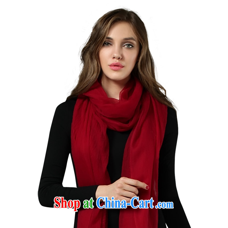 The song 300 support ring lint-free cloth scarf large cashmere shawls autumn and winter Cashmere scarf Z 221,202 wine red