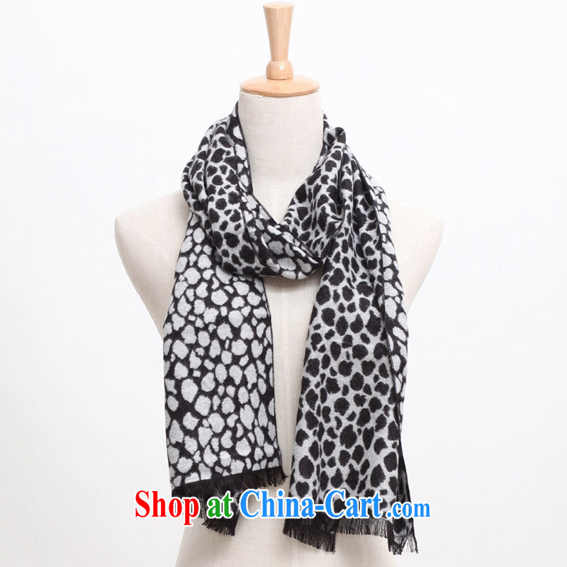 Wing-card American Leopard in couple of�autumn, winter wool knitting scarf twist knitted scarf KKM 685