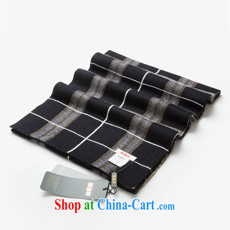 Elections at the end of the season clearance -- at the end of the season clearance Hang Seng Yuen Cheung-men, winter-skin scarf British plaid wool thick ultra-long English scarf black